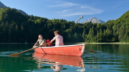 Kahnfahrt Freibergsee quer Tourismus Oberstdorf
