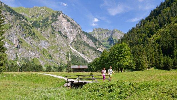 Wandern Oytal hoch Tourismus Oberstdorf