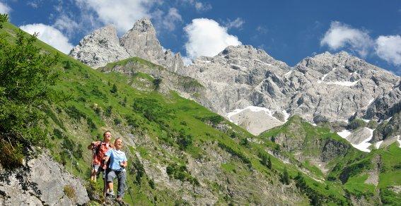 Wandern Trettach quer Tourismus Oberstdorf