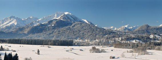 Oberstdorf Winterpanorama Tourismus Oberstdorf