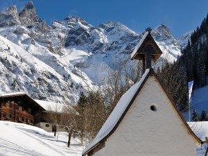 Einödsbach Winter hoch Tourismus Oberstdorf