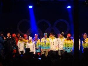 Unsere Olymiateilnehmer auf der Bühne