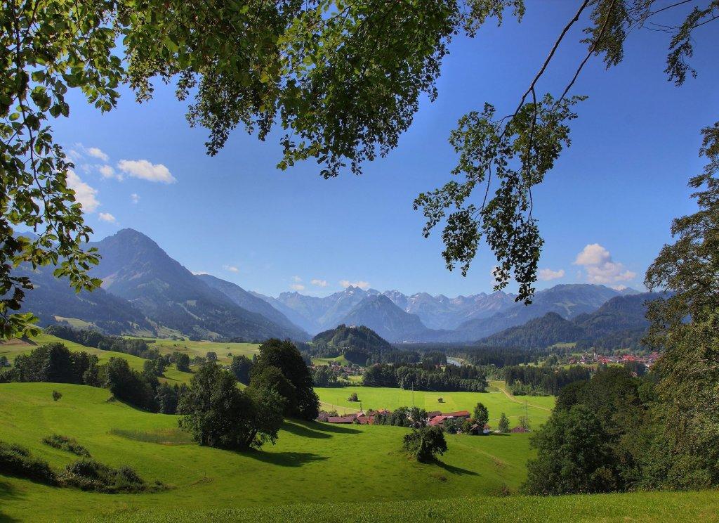 Aussicht in die Oberstdorfer Berge