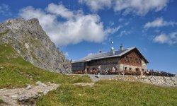 Fiderpasshütte an der Oberstdorfer Hammerspitze