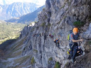 Klettern am 2-Länder-Klettersteig