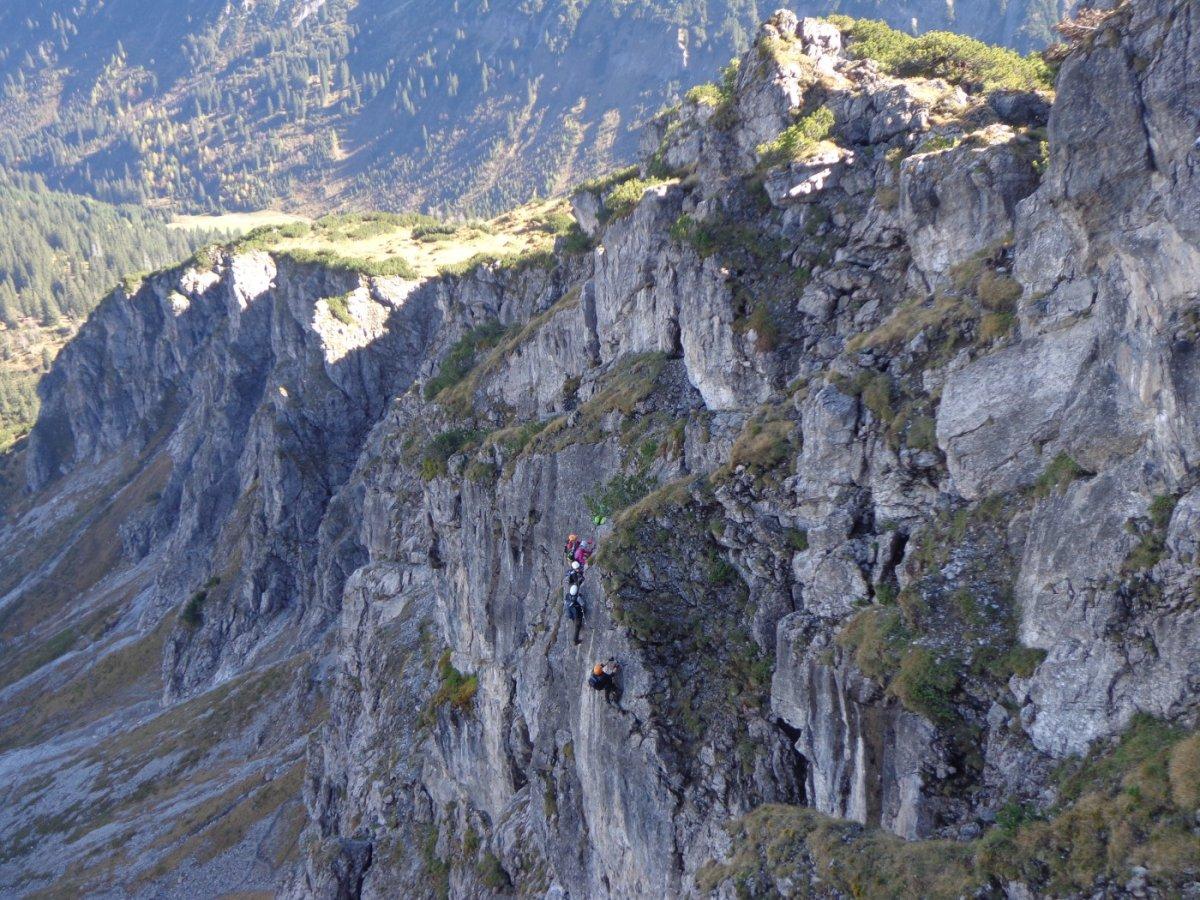 Klettersteig Kanzelwand : Der zweiländer sport klettersteig