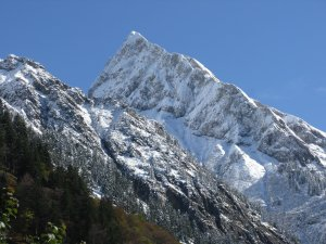 Höfats schneebedeckt