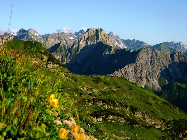 Sonnenuntergang am Nebelhorn