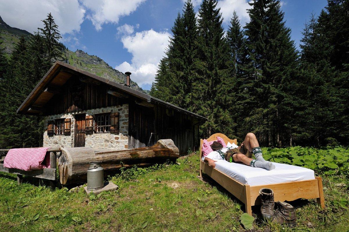 Auszeit auf der Hütte