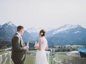 Hochzeit auf der Skisprungschanze