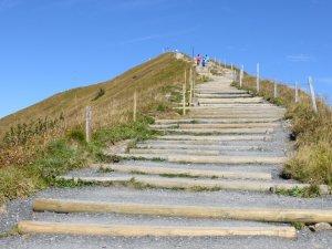 Der Weg zum Fellhorngipfel