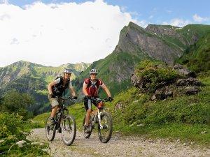 Mountainbiketour Richtung Käseralp