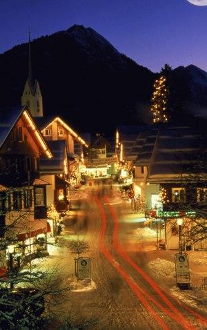 Winterabend in Oberstdorf