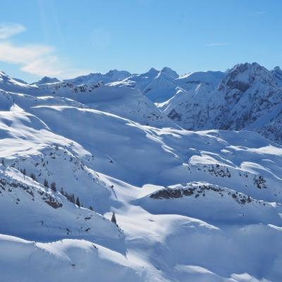Winterlandschaft am Nebelhorn