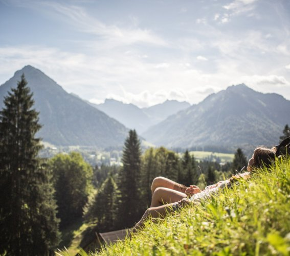 Wanderpause über Oberstdorf