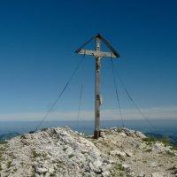 Daumen Gipfelkreuz