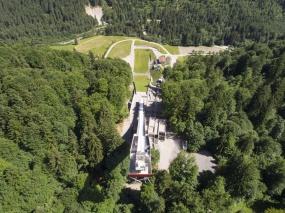 Skiflugschanze von oben