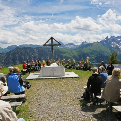 Bergmesse mit Posaunenchor
