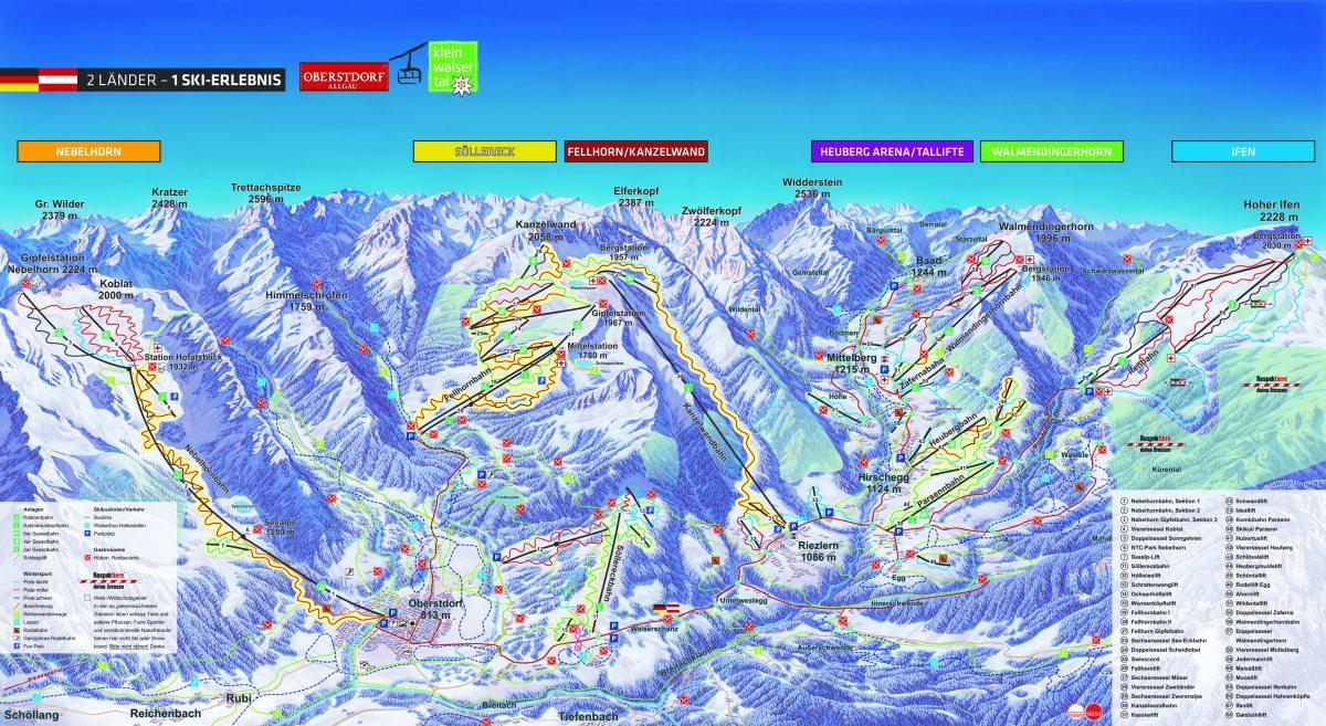 Winterpanorama Oberstdorf / Kleinwalsertal