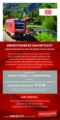 Flyer Bahnticket 17/18