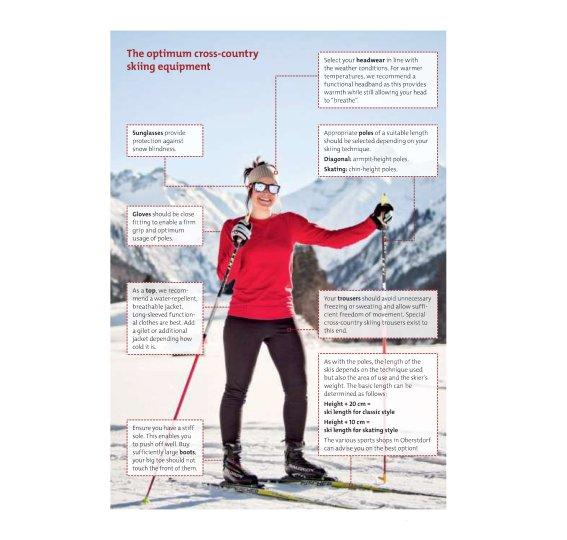 The optimum cross-country skiing equipment
