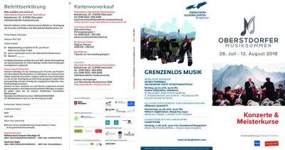 Festivalflyer Musiksommer 2018