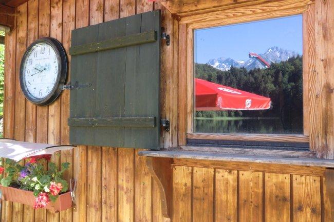 Spiegelung der Skiflugschanze