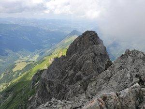Ausblick von der Mädelegabel zur Trettachspitze