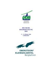 Programm Deutsche Seilbahntagung 2018