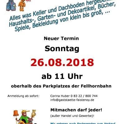 Plakat Flohmarkt Stillachtal 26.08.2018