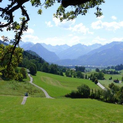Buchenhain, Blick nach Oberstdorf