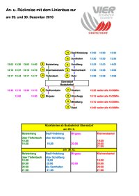 Buslinienverkehr Vierschanzentournee
