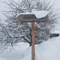 verschneites Schild