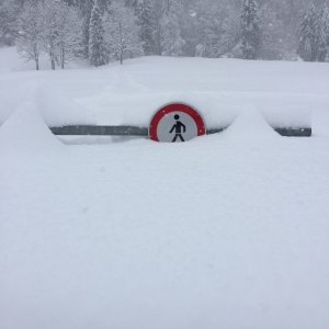 Tief verschneit im Trettachtal