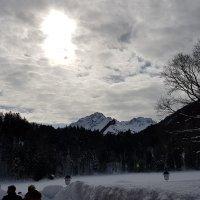 Freibergsee mit Skiflugschanze