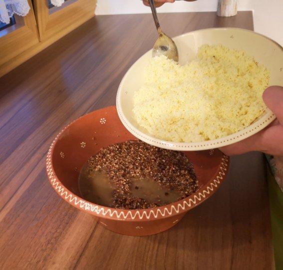 Käse und Brenntermehl