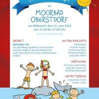 Familienfest Moorbad Plakat