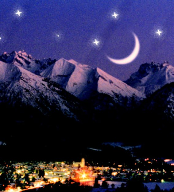 Sterne über Oberstdorf