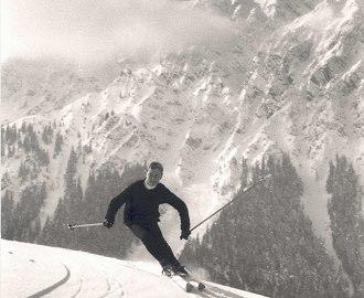 Skifahrer um 1960