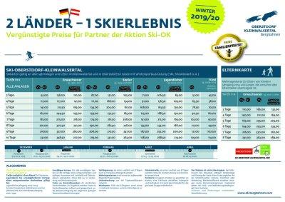 Ski Oberstdorf-Kleinwalsertal Preise 19/20