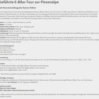Infos E-BikeTour Piesenalpe
