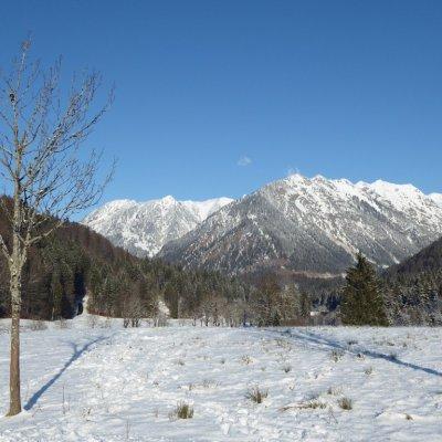 Blick zu den Bergen von Oberstdorf, 20.01.2020