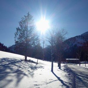 Weg zur Skiflugschanze
