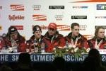 Siegerehrung WM Skispringen