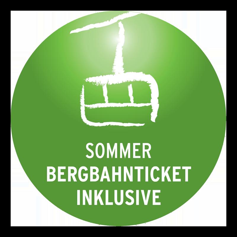 Bergbahnticket inklusive Logo