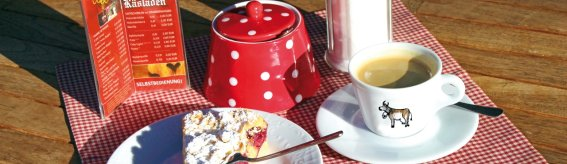 Kirschkuchen und Cafe