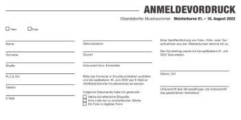 Oberstdorfer Musiksommer 2022 Anmeldevordruck Meisterkurse