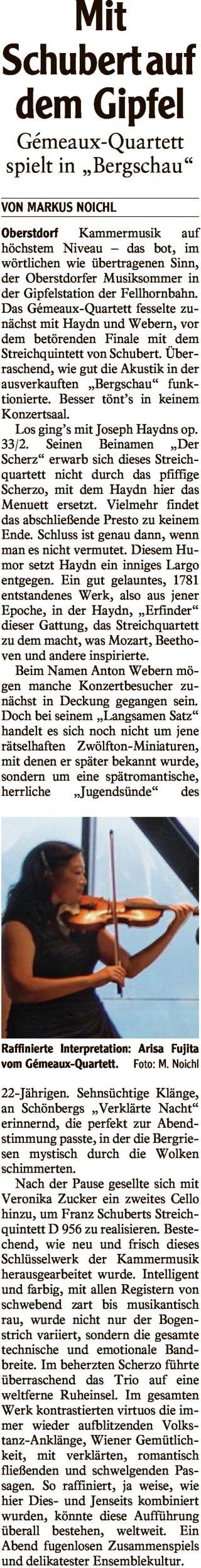 2018-08-04 Allgaeuer Anzeigeblatt Mit Schubert auf dem Gipfel