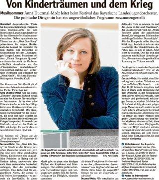 2018-08-04 Allgaeuer Anzeigeblatt Von Kindertraeumen und dem Krieg