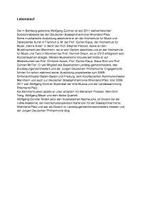 Wolfgang Güntner - Biographie